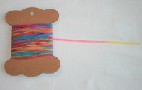 MAB 2 Minil Lacet papier Multicolore