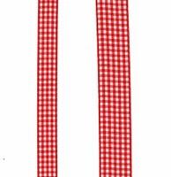 Ruban Vichy Rouge vif par 50 cm