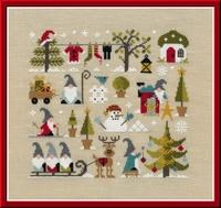 Jardin Privé Noël chez les Gnomes FT91