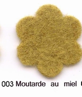 Feutrine Moutarde au Miel CP003