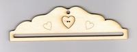 Petit cintre Bois  22 cm coeur