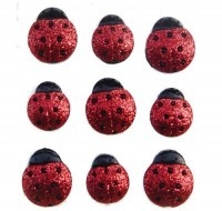 Dress it up Button fun Glitter Ladybugs