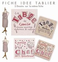 D007 Fiche Idées pour tabliers La table de Camille