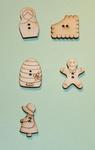 Boutons bois thème Personnages et Divers