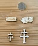 Boutons en bois thème Lorraine
