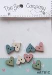 Petits boutons coeur bleu rose vert blanc TB1C