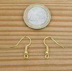 Support Boucles d'oreilles dorées par paire